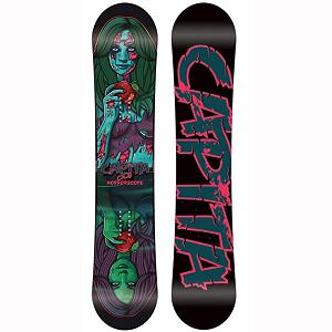 Snowboard Capita Horrorscope FK Snowboard 2013 - The Horrorscope FK is one of the best urban and park boards in the game, featuring pre-loaded reverse camber positioning for expert level jibbers and easy turning mindless shredding for those intermediate riders who want to eliminate the learning curve of the park. The WDT core was designed to give jibbers and park riders the softer flex patterns they want without sacrificing durability. Engineered to compliment the WDT core construction, is the Pre-Cured 420 fiberglass Construction its pre-cured for consistency and exits the mold with a high yield of energy memory for a nice energized snap. There is a reason that the Horrorscope FK is one of the most sought after jib boards in todays snowboarding world. The Horrorscope takes little effort, great for hangovers and pretty sure it can predict the future. . Base Name: High Transparent Extruded Base, Core Name: WDT Engineered Jib Core, Recommended Use: Freestyle, Waist Width: 255mm(@155cm), Stance Width: 23-25in, Stance Setback: Centered, Special Features: Silkscreened ABS Bomb Proof Sidewalls, Rocker Profile: Flat with Rocker, Shape: Twin, Flex: Soft, Pipe Oriented: No, Board Width: Regular, Rocker Type: Urban FK, Core Material: Wood, Construction Type: Sidewall Construction, Hole Pattern: Standard 4 Hole, Magnatraction: No, Base Material: Extruded P-tex, Warranty: Two Year, Skill Range: Intermediate - Advanced, Model Year: 2013, Product ID: 275102, Gender: Mens, Skill Level: Intermediate - $249.99