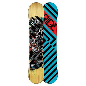 Snowboard Ride Manic Wide Snowboard - The Manic Wide is built for someone with a larger foot and it combines strong performance features with a unique shape that will really step up the fun factor on you day at the hill. The Manic Wide is equipped with Rides all-mountain rocker which is an early rise in the tip of the board with a stable flat zone in the tail of the board. This should help you roll this board over on edge and keep above any crud and any powder condition you might run in to, while keeping the board solid underneath you when the deck is flat. The linear Carbon in the core adds more snap and ollie power for your enjoyment, and the Slimewalls really smooth out the ride for you. You are bound to enjoy everything the mountain throws at you on this snappy stable ride. . Actual Turn Radius @ Specified Length: 7.6m (@157cm), Base Name: Fusion 1500, Core Name: Foundation Tuned Core, Waist Width: 262mm (@157cm), Stance Width: 559mm, Stance Setback: 3/4 Inch, Special Features: Slimewalls, Rocker Profile: Rocker, Shape: Directional Twin, Flex: Medium, Rocker Type: All Mountain Rocker, Core Material: Wood with Carbon, Construction Type: Sidewall Construction, Hole Pattern: Standard 4 Hole, Magnatraction: No, Base Material: Extruded P-tex, Warranty: One Year, Skill Range: Intermediate - Advanced, Model Year: 2013, Product ID: 280986, Shipping Restriction: This item is not available for shipment outside of the United States., Gender: Mens, Skill Level: Intermediate, Board Width: Wide, Pipe Oriented: No, Recommended Use: All-Mountain - $249.95
