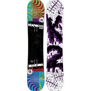 Snowboard K2 WWW Wide Snowboard 2013 - The K2 World Wide Weapon Wide is for your large booted freestyle rider that likes to spend most of their time doing laps in the park. Jib Rocker maneuverability and ptex topsheet toughness set the stage for you to get as creative as you get. Jib Tip and Jib Rocker combo allows you to shrink a board size without compromising edge control or pressing prowess. Inspired, tested and proven for park anarchy. . Actual Turn Radius @ Specified Length: 7.8m(@155W), Base Name: 2000 Extruded, Core Name: WH1, Recommended Use: Freestyle, Waist Width: 262mm(@155W), Stance Width: 22-23mm, Stance Setback: Centered, Special Features: PTEX Topsheet, Rocker Profile: Rocker, Shape: Twin, Flex: Soft, Pipe Oriented: No, Board Width: Wide, Rocker Type: Jib Rocker, Core Material: Wood, Construction Type: Sidewall Construction, Hole Pattern: Standard 4 Hole, Magnatraction: No, Base Material: Extruded P-tex, Warranty: One Year, Skill Range: Intermediate - Advanced, Model Year: 2013, Product ID: 281672, Shipping Restriction: This item is not available for shipment outside of the United States., Gender: Mens, Skill Level: Intermediate - $279.98