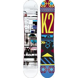 Snowboard K2 Raygun Snowboard - The whole mountain is in play with the K2 Raygun. This board is the foundation of all-mountain riding with a focus on the next level of progression and great days on the hill regardless of riders ability. The Raygun is comes equipped with All-Terrain Rocker which provides a smooth ride on all snow conditions. Hybritaper keeps it light and reduces swing weight making this snappy and responsive. The K2 Raygun is the only gun on the market that you do not need a permit for. . Actual Turn Radius @ Specified Length: 8.0m(@156cm), Base Name: 2000 Extruded, Core Name: W1, Recommended Use: All-Mountain, Waist Width: 249mm(@156cm), Stance Width: 21-23mm, Stance Setback: .75in, Special Features: Hybritaper Construction, Rocker Profile: Rocker, Shape: Directional Twin, Flex: Medium, Pipe Oriented: No, Board Width: Regular, Rocker Type: All-Terrain Rocker, Core Material: Wood, Construction Type: Sidewall Construction, Hole Pattern: Standard 4 Hole, Magnatraction: No, Base Material: Extruded P-tex, Warranty: One Year, Skill Range: Intermediate - Advanced, Model Year: 2013, Product ID: 281674, Shipping Restriction: This item is not available for shipment outside of the United States., Gender: Mens, Skill Level: Intermediate - $249.95
