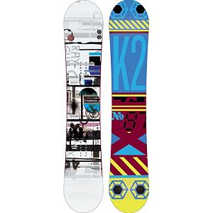 Snowboard K2 Raygun Wide Snowboard - The whole mountain is in play with the K2 Raygun Wide. This board is the foundation of all-mountain riding for your big footed riders. With a focus on the next level of progression and having great days on the hill regardless of riders ability. The Raygun Wide comes equipped with All-Terrain Rocker which provides a smooth ride on all snow conditions. Hybritaper keeps it light and reduces swing weight making this board snappy and responsive. The K2 Raygun Wide is the only gun on the market trusted and approved by Sasquatch. . Actual Turn Radius @ Specified Length: 8.1m, Base Name: 2000 Extruded, Core Name: W1, Recommended Use: All-Mountain, Waist Width: 265mm(@160W), Stance Width: 22-23mm, Stance Setback: .75in, Special Features: Hypritaper Construction, Rocker Profile: Rocker, Shape: Directional Twin, Flex: Medium, Pipe Oriented: No, Board Width: Wide, Rocker Type: All-Mountain Rocker, Core Material: Wood, Construction Type: Sidewall Construction, Hole Pattern: Standard 4 Hole, Magnatraction: No, Base Material: Extruded P-tex, Warranty: One Year, Skill Range: Intermediate - Advanced, Model Year: 2013, Product ID: 281679, Shipping Restriction: This item is not available for shipment outside of the United States., Gender: Mens, Skill Level: Intermediate - $249.95