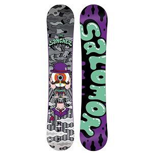 Snowboard Salomon Sanchez Wide Snowboard - If camber is your bag and the rocker camber of the Salvatore Sanchez does not float your boat, but you need a board that is soft and forgiving for getting your jib on, the Sanchez is the board in the Salomon line-up with your name on it. The Sanchez is a flexi park twin with tons of rail friendly features and a lively camber profile. The Sanchez is the perfect board to begin your conquest. A no-hang, pure Radial sidecut for clean switch tricks and easy spins, Sanchez has a Aspen Light core never buckles on steep transitions and deep presses. Perfect park lapper. . Actual Turn Radius @ Specified Length: 7.8m(@153W), Base Name: Extruded Base, Core Name: Aspen Light, Recommended Use: Freestyle, Waist Width: 258mm(@153W), Stance Width: 606-631mm, Stance Setback: Centered, Special Features: Radial Sidecut, Rocker Profile: Camber, Shape: Twin, Flex: Soft, Pipe Oriented: No, Board Width: Wide, Rocker Type: Camber, Core Material: Wood, Construction Type: Sidewall Construction, Hole Pattern: Standard 4 Hole, Magnatraction: No, Base Material: Extruded P-tex, Warranty: Two Year, Skill Range: Beginner - Advanced Intermediate, Model Year: 2012, Product ID: 284160, Gender: Mens, Skill Level: Beginner - $129.94