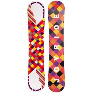Snowboard Looking to step up from that rental board at the mountain for one to call your own?  The JoyRide Checkers White Pink Rocker Snowboard is a fun and forgiving entry-level board for you to learn and excel on.  This snowboard has a Rocker profile so you will have plenty of forgiveness and playfulness so you can learn how to maneuver the mountain confidently.  You'll also be able to glide a little through the powder and have plenty of float so you can move with ease. If you're looking for a good board to help you grow and you're tired of wasting the money renting then check out the JoyRide Checkers White Pink Rocker Snowboard.  Base Graphics Are Assorted,  Snowboard Best Use: All-Mountain, Rocker Profile: Rocker, Shape: Directional, Flex: Soft, Pipe Oriented: No, Board Width: Regular, Core Material: Wood, Construction Type: Cap Construction, Hole Pattern: Standard 4 Hole, Magnatraction: No, Base Material: Extruded P-tex, Warranty: One Year, Skill Range: Beginner - Advanced Intermediate, Product ID: 297065, Gender: Womens, Skill Level: Beginner, Model Number: 89 SB 12 - $99.99