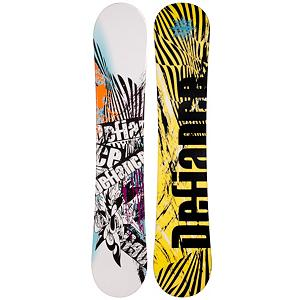 Snowboard Black Fire Defiance Snowboard - Check out this Black Fire Defiance Snowboard. It's a great entry-level board for the newer rider who wants a board to call their own. If you're just starting out or you've been renting for a bit, this board will help ensure that you can progress so that you can defy the odds and tackle the bigger, steeper and deeper terrain with confidence. Built with a camber profile, you'll have a responsive board with a great edge hold so that you can practice and perfect those turns. There's a little bit of pop so that you can start working on new tricks for the park and attempt the jumps you want to show off. This soft flex and forgiving Black Fire Defiance Snowboard is great for a beginner who wants a quality board at an affordable price. . Recommended Use: All-Mountain, Rocker Profile: Camber, Shape: Directional, Flex: Soft, Pipe Oriented: No, Board Width: Regular, Core Material: Wood, Construction Type: Cap Construction, Hole Pattern: Standard 4 Hole, Magnatraction: No, Base Material: Extruded P-tex, Warranty: One Year, Skill Range: Beginner - Advanced Intermediate, Product ID: 297094, Gender: Mens, Skill Level: Beginner - $99.99