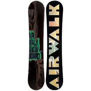 Snowboard Airwalk Logo Green Snowboard - The Airwalk Logo Green Snowboard is designed for first time ripper or local rental rider that is looking to have their first snowboard. Designed around beginners the Logo Green has a Cap or sandwich construction which makes getting the snowboard on edge much easier, allowing for easier turn inanition. Camber profile gives the riders more control, easier to make toe-side and heel-side turns which are the basics of snowboarding. Camber provides amazing edge hold on icy and all weather conditions. A Camber profile gives the Airwalk Logo Green an easy learning curve for any true beginner or seasoned rider. If your serious about riding and tired of rental then the Airwalk Logo Green is perfect for you. . Flex: Medium, Core Material: Wood, Construction Type: Cap Construction, Hole Pattern: Standard 4 Hole, Magnatraction: No, Base Material: Extruded P-tex, Warranty: One Year, Skill Range: Beginner - Advanced Intermediate, Skill Level: Beginner, Gender: Mens, Board Width: Regular, Pipe Oriented: No, Shape: Directional Twin, Recommended Use: All-Mountain Freestyle, Product ID: 297211, Rocker Profile: Camber - $149.99