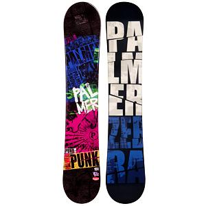 Snowboard Palmer Punk Blue Rocker Snowboard - If you want an entry-level board that will help you progress your skills and give you the confidence to head into a variety of territories than the Palmer Punk Blue Rocker Snowboard is the one for you. It boasts a cool design and has a rocker profile so that you can pick up your skills on a very forgiving board. You'll be able to float in some of the powder and have an easier time initiating turns. This will help you get used to a variety of conditions so that you can practice and perfect your snowboarding and soon roll with the pros at the top of the mountain. The best part about owning your own board is the consistency so you can get used to and learn easier plus you don't have to stand in line at the rental place eating up prime shredding time. So grab the Palmer Punk Blue Snowboard and start progressing to higher levels. . Recommended Use: All-Mountain, Rocker Profile: Rocker, Shape: Directional, Flex: Soft, Pipe Oriented: No, Core Material: Wood, Construction Type: Cap Construction, Hole Pattern: Standard 4 Hole, Magnatraction: No, Base Material: Extruded P-tex, Warranty: One Year, Skill Range: Beginner - Advanced Intermediate, Product ID: 297320, Gender: Mens, Skill Level: Beginner - $179.99