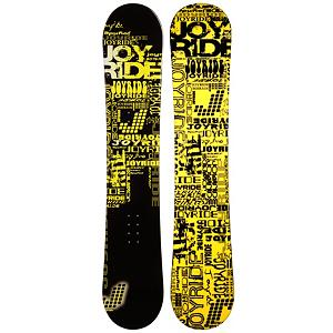 Snowboard The JoyRide Text Yellow Snowboard is a great entry-level board to help you perfect the basics so you can begin your ascent to the higher parts of the mountain.  With your very own ride, your skills will increase each time you set foot in the snow because you'll know how your board operates. Plus you can avoid the rental lines and additional costs. So, why waste the time and the money when you can have one to call your own.  It has a great edge hold making those turns a little easier to master.  It boasts a camber profile which is poppy and responsive so you can work on some of the tricks and jumps you've been eyeing in the park. Soft and forgiving, the JoyRide Text Yellow Snowboard is fun for any beginner trying to get the skills and confidence to graduate from the easy greens to the challenging black diamonds.  Base Graphics Are Assorted,  Snowboard Best Use: All-Mountain, Rocker Profile: Camber, Shape: Directional, Flex: Soft, Pipe Oriented: No, Board Width: Regular, Core Material: Wood, Construction Type: Cap Construction, Hole Pattern: Standard 4 Hole, Magnatraction: No, Base Material: Extruded P-tex, Warranty: One Year, Skill Range: Beginner - Advanced Intermediate, Product ID: 297436, Gender: Mens, Skill Level: Beginner, Model Number: 617 SB 12 - $129.91
