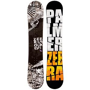Snowboard Palmer Zebra Hybrid Rocker Snowboard - The Palmer Zebra Hybrid Rocker Snowboard is a great entry-level board that combines two types of profiles to give you the best experience on the mountain so that you can gain the necessary skills to really branch out across a variety of terrain. Its hybrid rocker profile offers you a responsive and forgiving board so you can learn the basics with a lot more freedom to make mistakes without constantly eating snow. It also has a great edge hold to help with turn initiation and turning and evens has a little pop so you can play with jumps and a couple tricks. The value of owning your own board is high. Not only do you save time and money by avoiding the rental office but you also have a board you're familiar with and that can make it easier to learn when you're constantly on the same platform. So, if you're just starting out or maybe did a couple runs on a rental board last season and you want to dive in snowboarding then the Palmer Zebra Hybrid Rocker Snowboard is a great choice for that first board. . Recommended Use: All-Mountain, Rocker Profile: Rocker with Camber, Shape: Directional, Flex: Soft, Pipe Oriented: No, Core Material: Wood, Construction Type: Cap Construction, Hole Pattern: Standard 4 Hole, Magnatraction: No, Base Material: Extruded P-tex, Warranty: One Year, Skill Range: Beginner - Advanced Intermediate, Product ID: 297492, Gender: Mens, Skill Level: Beginner - $179.99