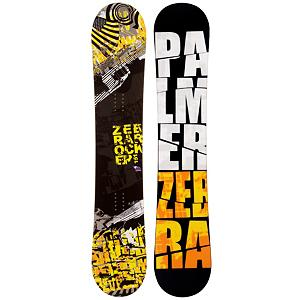 Snowboard Palmer Zebra Yellow Snowboard - The Palmer Zebra Yellow Snowboard is a cool entry-level board for those just starting out and wanting to get a good hold on the art of snowboarding. It boasts some great features to help you learn the basics so that you can soon test out your new found abilities on a little more challenging terrain. You'll have a camber profile which is perfect for nailing down the turns. You'll have a solid edge hold and great response with this Palmer Zebra Yellow Snowboard. There's a little bit of pop too to increase the playfulness so you can begin working on some small jumps. There are some good benefits to owning a board as opposed to renting especially when trying to increase your skill level. Just having a board you're used to and calling your own is a great benefit. But also, you save time and money. Lift tickets aren't cheap so why spend part of the day waiting to get fitted for a board? With the Palmer Zebra Yellow Snowboard you can expect a quality board with a lot of value and fun so your mountain experience can be great. . Recommended Use: All-Mountain, Rocker Profile: Camber, Shape: Directional, Flex: Soft, Pipe Oriented: No, Core Material: Wood, Construction Type: Cap Construction, Hole Pattern: Standard 4 Hole, Magnatraction: No, Base Material: Extruded P-tex, Warranty: One Year, Skill Range: Beginner - Advanced Intermediate, Product ID: 297514, Gender: Mens, Skill Level: Beginner - $99.99