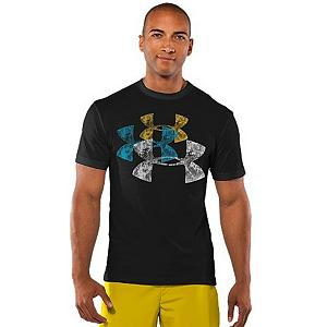 Snowboard Under Armour Los Logos T-Shirt - Fresh logo graphics meet soft, quick-drying performance on this Under Armour Los Logos Tee. The performance cotton blend delivers ultra-soft comfort and superior performance. The Signature Moisture Transport System wicks sweat away from the body, keeping you cool, dry, and focused on practicing your sport. The Anti-odor technology prevents the growth of odor causing microbes, keeping your gear fresher for a longer amount of time keeping you continually active. . Category: Light-Weight, Warranty: One Year, Type: Crew/Mock Top, Type: Tees, Weatherproof: No, Material: Cotton, Wicking Properties: Yes, Type: Short Sleeve, Model Year: 2012, Product ID: 261754 - $14.99