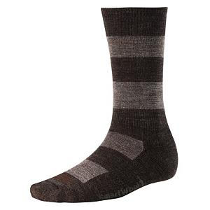 Snowboard SmartWool Double Insignia Socks - New to the SmartWool collection are the Insignia Socks. These socks are created for a stylish and casual man looking to please his feet. These SmartWool socks are created with several features along with a fashionable look. The stripes give the socks sophistication with snazz, due to the great technology used to create these socks. The Double Insignia Socks also have a special SmartWool technology called WOW Technology, which stands for wool on wool. WOW adds an additional layer of SmartWool to protect the heel and forefoot against shock and abrasion. But wait! There's more! Everyone knows socks can make your feet a little hot sometimes. Well, with the Double Insignia socks, you will not have that problem. They are built with strategic mesh zones for maximum ventilation. Adding to the comfort level of the sock is the included cushion and the supportive arch and ankle brace. Features: Wool has Natural Wicking Properties. Warranty: One Year, Material: Wool/Synthetic Blend, Waterproof: No, Type: Lifestyle, Weight: Mid, Type: Sock, Sole Material: Merino Wool, Model Year: 2014, Product ID: 200915, Insulated: No, Battery Heated: No, Material: Wool, Nylon and Elastane - $22.95