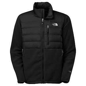 Snowboard The North Face Denali Down Mens Jacket - The classic North Face Fleece has now been outfitted with 550 down insulation to keep you toasty warm in The North Face Denali Down Jacket. This jacket is totally the same as its cousin the Denali Fleece only this is outfitted with so much down insulation you will stay nice and warm no matter how cold the weather gets. For the super bone chilling cold days the Denali Down is zip-in compatible with complementing North Face garments to give you maximum warmth to have a fun day out on the mountain. There are insulated shoulders and elbows for additional warmth and a napoleon chest pocket and two zippered hand pockets provide plenty of storage space for small accessories in The North Face Denali Down Jacket. Features: Elastic Bound Cuffs, Hem Cinch-Cord. Insulation Weight: 550 Down PrimaLoft Eco Insulation, Taped Seams: None, Waterproof Rating: N/A, Breathability Rating: N/A, Warranty: Lifetime, Battery Heated: No, Race: No, Cut: Regular, Length: Medium, Waterproof: Not Specified, Breathability: Not Specified, Waterproof Zippers: Yes, Wind Protection: No, Model Year: 2013, Product ID: 282199, Shipping Restriction: This item is not available for shipment outside of the United States., Pockets: 3-4, Closure Type: Full Zip Top, Insulation Type: None (Shell), Type: Fleece, Hood: No, Fleece Weight: Heavy, Exterior Material: Recycled Polartec 300 Series Fleece with DWR Finish - $129.95