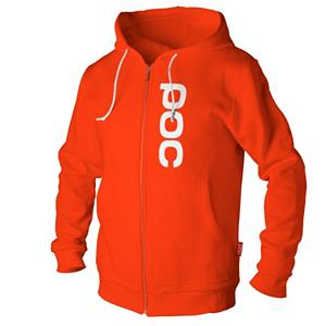 Snowboard POC Corp Zip Hoodie - Thanks to POC style has been brought to wearing protective gear. Rep the company that keeps you covered in comfort and style with the Corp Zip Hoodie. Extra thick cotton makes it feel like you are wearing your favorite blanket surrounding you in plush and fuzzy warmth. Convenient full zip style complete with split kangaroo pocket makes for easy undressing and showing off your graphic tee. A large embroidered POC logo won't fade or flake off like silk screening so it will hold up when you finally decide to take it off and wash it. Durable, long lasting, super comfortable the Corp Zip Hoodie has the ambition of becoming your favorite piece. . Material: Extra Thick Cotton, Battery Heated: No, Type: Hoodies, Weatherproof: No, Material: Cotton, Model Year: 2013, Product ID: 243818 - $63.99