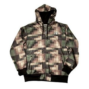 Snowboard Electric Pixel Camo Mens Hoodie 2012 - Dually functional and sleek for your comfort and warmth is the Electric Pixel Camel Snow Fleece Hoodie. For men, this hoodie compliments a jacket very well as a warm layering piece that can be worn during the really cold days. It can also be worn separately as a lighter jacket during those early to mid fall days when the weather starts to cool down. No matter which way you choose to sport this versatile fleece hoodie you will remain looking cool but staying warm. . Hood Type: Fixed, Material: 86% Polyester and 14% Cotton, Fleece Weight: Heavy, Category: Heavy-Weight, Hood: Yes, Warranty: Other, Battery Heated: No, Type: Hooded, Wind Protection: Yes, Type: Hoodies, Weatherproof: No, Material: Synthetic, Pockets: 1-2, Wicking Properties: No, Type: Long Sleeve, Water Resistant: No, Model Year: 2012, Product ID: 248955 - $39.93