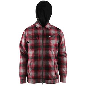 Snowboard ThirtyTwo Klondike Mens Jacket - What would you do for Thirty Two Klondike Flannel shirt Jacket? Even though this is not ice cream, this Full Zip lined team fit flannel will have you warm and toasty as a mid layer under a shell or by itself on a spring park session. Classic collar with plaid looks great feel even better. STI Water Repel technology magically repels water off the outer layer of the flannel. Chest and front pockets offer riders to place important objects without having to worry about them. . Exterior Material: Flannel, Insulation Weight: N/A, Taped Seams: None, Waterproof Rating: STI Repel Treatment, Breathability Rating: N/A, Hood Type: Fixed, Material: STI Repel Fleece, Fleece Weight: N/A, Category: Mid-Weight, Hood: Yes, Warranty: One Year, Battery Heated: No, Race: No, Type: Casual, Cut: Regular, Length: Long, Insulation Type: None (Shell), Waterproof: Water Resistant (1000mm), Breathability: Not Specified, Waterproof Zippers: No, Closure Type: Full Zip Top, Wind Protection: Yes, Type: Hoodies, Material: Synthetic, Cinch Cord Bottom: No, Pockets: 1-2, Wicking Properties: Yes, Sleeve Type: Long Sleeve, Water Resistant: Yes, Model Year: 2013, Product ID: 271303 - $69.91