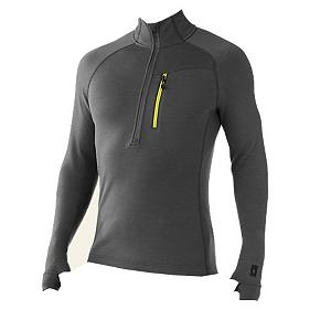 Snowboard SmartWool Merinomax Half Zip Mens Mid Layer - The SmartWool MerinoMax Half Zip Mid Layer is a densely woven Ponte knit jacket that offers maximum warmth with minimal bulk, keeping you warm even on the coldest days. The semi form fit keeps the warmth in and fits as though you aren't wearing an additional layer. The Jersey knit feels so soft as it offers you complete comfort. The thumbholes secure more heat and protection. The MerinoMax Full Zip Mid Layer wears perfect alone with a pair of your favorite jeans as well. . Material: MerinoMax Double Jersey knit, Category: Heavy-Weight, Hood: No, Warranty: Lifetime, Battery Heated: No, Closure Type: Partial Zip Top, Wind Protection: No, Type: Turtlenecks and Layering, Material: Wool, Wicking Properties: Yes, Sleeve Type: Long Sleeve, Water Resistant: No, Model Year: 2013, Product ID: 296131 - $99.95