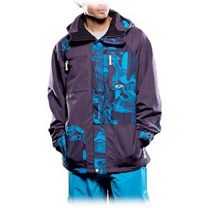 Snowboard Oakley Shell Deals Mens Shell Ski Jacket - Looking for a stylish jacket that does the job of keeping the wintry weather on the outside? Well look no further than the Oakley Shell Deals Ski Jacket. This shell jacket boasts a 15k rating in its waterproofing and breathability to keep you dry and comfortable all day long. If the temps are rising and you're beginning to sweat, you can cool down by zipping open the pit vents and letting some fresh air flow in. For added comfort as you tear up the mountain, you'll have wrist gaiters and adjustable cuffs. The thumbhole cuffs keep the sleeves from riding up and keeping the snow from getting inside. There's a fixed hood with a magnetic hold-down system that won't get in your way as you turn your head while performing the ultimate tricks. Listen to your MP3 player while storing it safely in the media pocket and, when you're taking a break, throw your goggles inside the goggle pocket. High-performance with plenty of style, the Oakley Shell Deals Ski Jacket is the best way to stay in the game longer and more comfortably. . Exterior Material: Polyester, Insulation Weight: N/A, Taped Seams: Fully Taped, Waterproof Rating: 15,000mm, Breathability Rating: 15,000g, Hood Type: Fixed, Pit Zip Venting: Yes, Pockets: 6-7, Electronics Pocket: Yes, Goggle/Sunglasses Pocket: Yes, Powder Skirt: Yes, Hood: Yes, Warranty: Other, Use: Ski, Battery Heated: No, Race: No, Rain Jacket: No, Type: Shell, Cut: Regular, Length: Medium, Insulation Type: None (Shell), Waterproof: Moderately Waterproof (5000mm-19,999mm), Breathability: High Breathability (9000g-15,000g), Cuff Type: Velcro, Wrist Gaiter: Yes, Waterproof Zippers: No, Cinch Cord Bottom: No, Insulator: No, Model Year: 2012, Product ID: 268975 - $129.92