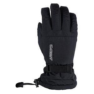 Snowboard Scott Fuel Gloves - Stay classy. If you're not into making neon statements with your ski outfits, then the Scott Fuel was made with you in mind. Although it isn't flashy on the outside, this glove has a brushed tricot lining, a waterproof membrane, and a Sherpa fleece wrist lining on the inside to keep you warm and dry. Full-wrap FiberLoft insulation paired with storm gauntlets and quick stop closures allows the snow to stay on the mountain, where it belongs. . Removable Liner: No, Material: Tasian, Warranty: One Year, Battery Heated: No, Race: No, Type: Glove, Use: Ski/Snowboard, Wristguards: No, Outer Material: Nylon, Waterproof: Yes, Breathable: Yes, Pipe Glove: No, Cuff Style: Over the cuff, Down Filled: No, Touch Screen Capable: No, Model Year: 2013, Product ID: 236696 - $40.00