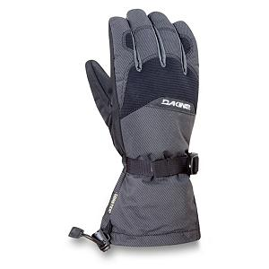 Snowboard Dakine Frontier Ski Gloves - Whether you're skiing after that first nice snowfall at the beginning of winter or in the middle of the frigid season, the Dakine Frontier Gloves are made to keep your hands warm, dry and comfortable all day long. These gloves are inserted with Gore-Tex which combines the highest levels of waterproofing, breathability, durability, and softness while providing optimum comfort and protection. Thermoloft Insulation will resist moisture in wet conditions providing loft retention and an airspace that holds heat and keeps the hands and fingers warm. Even when the temperatures are rising this non-bulky insulation will allow for breathability and comfort. The RubberTec palms are abrasion resistant and the high grip surface treatment will let you keep hold of everything from a ski pole, to the base of the board, or a snow shovel. Lined with 150g Tricot the Dakine Frontier Gloves are the ultimate in dexterity and moisture management. The shell of the gloves are made of Weathershield Nylon with a Durable Water Repellent to keep the exterior elements from sneaking in and the One Hand Cinch Gauntlet Cuff Closure will ensure the snow stays out if you so happen to wipeout in knee-high powder. The nose wipe thumb panel helps on the cold long winter days and the goggle wipes will clean off the lens if needed. The Dakine Frontier Gloves are excellent all-weather gloves designed for comfort and warmth from the mildest winter day to coldest night. Features: Nose and goggle wipe thumb panels. Removable Liner: No, Material: Weathershield Nylon, Warranty: One Year, Battery Heated: No, Race: No, Type: Glove, Use: Ski/Snowboard, Wristguards: No, Outer Material: Nylon, Waterproof: Yes, Breathable: Yes, Pipe Glove: No, Cuff Style: Over the cuff, Down Filled: No, Model Year: 2012, Product ID: 244628 - $39.98