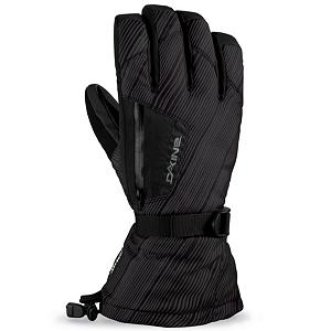 Snowboard Dakine Titan Gloves - Slay the gods of wind, rain and snow with your Dakine Titan Glove. This toasty glove has a removable 4-way stretch 280 gram weight fleece liner glove; perfect to use alone while ski touring or on summer days The Weathershield nylon shell is treated with a durable water repellant (DWR) and backed up by a Gore-Tex waterproof breathable insert. A RubberTec palm continues the waterproof theme, and adds excellent abrasion resistance and durability. An external waterproof zippered stash pocket houses a goggle chamois and there are additional goggle and nose wipes located on the thumbs. The glove also has a wrist strap with slider and an easy one-hand cinch draw cord at the gauntlet cuff. Get a glove you'll worship, the Titan Glove from Dakine. . Removable Liner: No, Material: Gore-Tex Nylon, Warranty: One Year, Battery Heated: No, Race: No, Type: Glove, Use: Ski/Snowboard, Wristguards: No, Outer Material: Nylon, Waterproof: Yes, Breathable: Yes, Pipe Glove: No, Cuff Style: Over the cuff, Down Filled: No, Touch Screen Capable: No, Model Year: 2013, Product ID: 282649 - $65.00