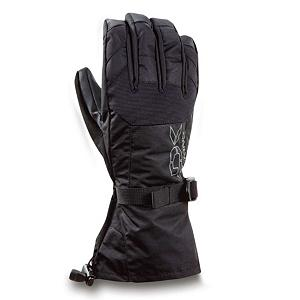 Snowboard Dakine Scout Gloves - This pair of Scout Ski Gloves have a warmth index of 4, the amount of insulation and lining materials combined provides you with the warmest style ski mitten for the harsh conditions, better yet they will provide you with the superior warmth (5 being the warmest) that will keep you outdoors longer fulfilling your outdoor needs. Paired with the thermoloft 280g of synthetic insulation you will experience an excellent balance in any weather conditions. This insulation is lightweight, highly breathable and resists moisture in wet conditions providing loft retention and an air space that holds heat and keeps your hands warm and protected. Other features include the nose and goggle wipe thumb panel and the one hand cinch gauntlet cuff closure that keeps out the un-wanted snow. Under severe weather conditions this pair of Scout Ski Gloves have been designed with a removable fleece liner keeping you hands dry, warm and comfortable all season long. When you really start ripping, the fixed 150g of tricot liner will wick moisture away from your hands as you work up a sweat. An ideal pair of ski gloves that will keep you going and protected from the winds, cold temperatures and snow flakes all day long with no worries. . Removable Liner: Yes, Material: Nylon with DWR treatment, Warranty: One Year, Battery Heated: No, Race: No, Type: Glove, Use: Ski/Snowboard, Wristguards: No, Outer Material: Nylon, Waterproof: Yes, Breathable: Yes, Pipe Glove: No, Cuff Style: Over the cuff, Down Filled: No, Touch Screen Capable: No, Model Year: 2013, Product ID: 283049 - $45.00