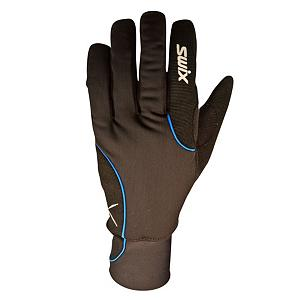 Snowboard Swix Star XC Ski Gloves - The Swix Star XC Mens Gloves are ideal for the beginning cross country skier. The Swix Star is a popular glove. Made with pre-shaped fingers that allow you to get a better grip on your poles. Filled with 100 grams of Primaloft insulation will keep your fingers cozy and warm while also wicking away moisture. Premium construction with lycra upper and Primaloft insulation. A synthetic palm with adjustable cuff and Velcro closure. Should your nose inevitably start running there is a Terry wipe on the thumb to take care of that little issue. . Removable Liner: No, Material: Lycra and Ribknit, Warranty: One Year, Battery Heated: No, Race: No, Type: Glove, Use: Ski/Snowboard, Wristguards: No, Outer Material: Softshell, Waterproof: No, Breathable: Yes, Pipe Glove: No, Cuff Style: Under the cuff, Down Filled: No, Model Year: 2013, Product ID: 285220 - $35.95