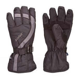 Snowboard Auclair Sweep Ski Gloves - The Auclair Sweep Gloves offers true waterproof and breathability so that you can spend your time on the mountain with warm and comfortable fingers. The waterproof, windproof and breathable membrane blocks moisture from seeping in while the membrane itself helps manage moisture on the inside which is the true culprit when it comes to chilly hands. The exterior is made of durable fabrics which holds the integrity of the gloves season-after-season and the natural leather palm adds enhanced flexibility and great gripping action. The insulation within these gloves will help trap the heat inside so that your fingers and hands remain warm even as the temperatures dip. For warmth, comfort and coziness when you're spending your days enjoying the fresh powder on the mountain, go with the Auclair Sweep Ski Gloves. . Removable Liner: No, Material: Thinsulate, Warranty: One Year, Battery Heated: No, Race: No, Type: Glove, Use: Ski/Snowboard, Wristguards: No, Outer Material: Nylon, Waterproof: Yes, Breathable: Yes, Pipe Glove: No, Cuff Style: Over the cuff, Down Filled: No, Model Year: 2011, Product ID: 285605 - $17.95