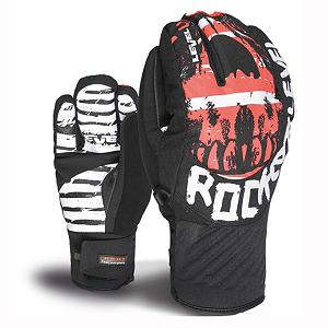 Snowboard Level Rocker Gloves - The Level Rocker Glove is not a glove for guitar players; it is a glove for riders out there throwing down though. The Rocker Glove feels soft because of the Thermoliner Insulation warming their hands. Designed to be less bulky than high-loft insulation, this blend of fibers have a great level of heat retention. The Membra-Therm Plus Membrane offers exceptional water-resistance and optimizes warmth and comfort by keeping the hands dry. The Rocker glove has a rocker shape profile were the index and pinky are solo and your other fingers are together, thus giving you the rocker symbol. Literally you can rock out with your amp out on the slopes with fun functional glove from Level. . Removable Liner: No, Material: Thermoliner Fleece, Warranty: One Year, Battery Heated: No, Race: No, Type: 3 Finger, Use: Ski/Snowboard, Wristguards: No, Outer Material: Nylon, Waterproof: No, Breathable: Yes, Pipe Glove: No, Cuff Style: Under the cuff, Down Filled: No, Touch Screen Capable: No, Model Year: 2013, Product ID: 290909 - $59.92