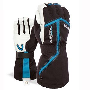 Snowboard With the Heli XCR Ski Gloves you'll have a high performance glove packed with technology and features sure to keep you protected on the mountain. Starting with the Thermoliner - this is a soft and less bulky blend of fibers that trap air for more warmth. Thermo-Plus 4000 is guaranteed to keep you warm. How so? A combination of right shape, insulation and waterproof technology is applied to keep in the right amount of heat retention inside the glove and will keep you warm even in temperatures at -15 degrees. Finally, Gore-Tex. This high performance insert has exceptional durability, water proofness and breathability and is capable of maintaining the ideal temperature for you hands. The relaxed fit and awesome technology make the Level Heli XCR Ski Gloves one of the best.  Gore-Tex,  Storm Leash and Carabineer,  Removable Liner,  GTIN: 8059070697391, Model Number: 2065UG.35 8, Product ID: 290921, Model Year: 2017, Glove/Mitten Insulation: Synthetic, Glove Weather Condition: Frigid, Glove Quality: Best, Touch Screen Capable: No, Down Filled: No, Cuff Style: Over the cuff, Pipe Glove: No, Breathable: Yes, Waterproof: Yes, Glove Outer Fabric: Nylon, Wristguards: No, Use: Ski/Snowboard, Type: Glove, Race: No, Battery Heated: No, Warranty: One Year, Material: Gore-Tex, Removable Liner: Yes - $139.99