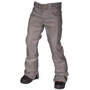 Snowboard Air Blaster Sissy Pant Mens Snowboard Pants - Welcome to the part of snowboarding were street meets snow with the slim-fit Sissy Pant by Airblaster. With 10K breathability and 10G of breathability this fully seam sealed pant is great for any weather condition. Twill fabric with a slight stretch allow riders to wear these pants all day long if they please. With invisible internal zippered ventilation for hot spring days or street sessions that require constant in and out of cars. 4 zippered pockets so you will never lose your gear on the slopes. Fully taped seams stop moisture from skanking its way in through the stitching. Whether you are a jock or a nerd the sissy pant is one thing both can agree on and rock proudly. . Exterior Material: Twill fabric, Softshell: No, Insulation Weight: N/A, Taped Seams: Fully Taped, Waterproof Rating: 10,000mm, Breathability Rating: 10,000g, Full Zip Sides: No, Thigh Zip Venting: Yes, Suspenders: None, Articulated Knee: No, Cargo Pockets: No, Warranty: One Year, Race: No, Waterproof: Moderately Waterproof (5000mm-19,999mm), Breathability: High Breathability (9000g-15,000g), Use: Snowboard, Type: Shell, Cut: Slim, Lining Material: Nylon, Waist: Adjustable, Pockets: 3-4, Model Year: 2013, Product ID: 292986, Model Number: AB13MP3-021 GRY M, GTIN: 0847678006480 - $99.91