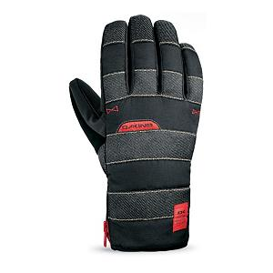 Snowboard Dakine Omega Mens Snowboard Gloves 2012 - For the times when you get to ski and snowboard in milder temperatures put on your Dakine Omega Gloves and hit the slopes. Equipped with Thermoloft Insulation, your hands will still stay warm even when they get wet and the winter wind hits. This low bulk insulation will do the job of keeping those fingers warm as the mercury begins to rise but gloves are still a necessity. Dakine's own Hipora Waterproof Inserts will keep the hands dry while providing the gloves with breathability. Pre-curved finger construction allows your palms to remain in a relaxed position so you can have comfort while gripping ski poles or the base of the board. The cuffs close by zipper to avoid snow from getting in and nose wipe thumb panels can be very beneficial when skiing long distances in the cold. The shell of the glove is made of Durable Water Resistant nylon and the palms are Rubbertec which ensures you can grip even if they're covered in snow. Lined with insanely comfortable and warm fleece, these Dakine Omega Gloves are a superb choice for those blue sky days when you don't have to contend with the extreme cold. Features: Nose wipe thumb panels. Removable Liner: No, Material: Weathershield, Warranty: One Year, Battery Heated: No, Race: No, Type: Glove, Use: Ski/Snowboard, Wristguards: No, Outer Material: Softshell, Waterproof: Yes, Breathable: No, Pipe Glove: No, Cuff Style: Under the cuff, Down Filled: No, Touch Screen Capable: No, Model Year: 2012, Product ID: 244691 - $39.95