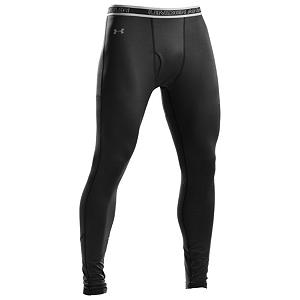 Snowboard Under Armour EVO ColdGear Leggings Mens Long Underwear Bottom 2011 - Whether it's working out in colder temperatures or wanting a good base layer under your ski or snowboarding clothes, the Under Armour EVO ColdGear Leggings Mens long Underwear Bottoms will help you remain warm and comfortable in coldest of climates. Designed with ColdGear fabric, this features a double-sided fabric that wicks moisture from the skin and helps circulates body heat. We all know how a day of vigorous activity and sweating can stink up the clothes, that's why these leggings are equipped with ArmourBlock, this technology neutralizes the microbes that cause odor before there is any odor at all. There's ArmourStretch which uses lightweight fabrics to improve mobility and dry times and Flatlock Seams that feel smooth against the skin and prevent chafing. With a snug fit and maximum mobility, the Under Armour EVO ColdGear Leggings are sure to keep you warm and comfortable during your cold weather activities. . Fit: Tight, Warranty: Lifetime, Material: Wool/Synthetic Blend, Weight: Mid, Type: Bottom, Neck: None, Model Year: 2013, Product ID: 209984 - $54.95