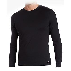 Snowboard Hot Chillys Micro-Elite Chamois Crewneck Mens Long Underwear Top - Hot Chillys Micro-Elite Chamois Crewneck is a very versatile, mid weight, body fit base layer that has a blend of MTF micro polyester, bio-silver antimicrobial polyester and spandex material combined to provide you with the warmth, comfort and protection needed for all of your outdoor needs when the temperatures are unforgiving. The perfect layering piece for cold weather days while on the mountain, sledding with the kids or relaxing around the lodge after a long day in the pipe or the park. The fiber combinations provide a lightly sanded material for comfort and performance while the anatomical body fit design allows for freedom of movement without any restrictions. The sun protective rating (UPF 30+) protects your mid-section from the suns harmful rays should the temperatures start to rise and more layers are not needed. The unique moisture transfer fibers have been designed to move moisture away from your body, keeping you dry throughout the entire day. It can be worn alone or as a base layer for running, cycling, sailing, skiing and a myriad of other activities. A must have for your wardrobe to assist in your winter protection from the outside elements all season long. Features: Ultraviolet Protection Factor (UPF) Rating of 30+, Warmth Factor 8 (Out of 10), Micro Polyester, Antimicrobial Polyester and Spandex Materials, Features Hot Chillys Flocked Logo, Drop Tail in Back, Longer to Avoid Riding Upwards. Fit: Tight, Warranty: One Year, Material: Synthetic, Weight: Mid, Type: Top, Neck: Crew, Model Year: 2014, Product ID: 116954 - $65.00