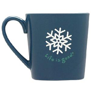 Snowboard Life Is Good Everyday Snowflake Mug - Its time to warm up in style! The Life is Good Everyday Mug has great happy design and two-tone glazed color stoneware. Brighten you day up with a Life is Good Quote that is located inside the mug. Dish washer and microwaveable, this will become your favorite mug all year around! . Model Year: 2013, Product ID: 269574 - $12.99