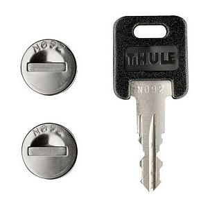 Snowboard Kind of like Lord of the Kinds, this Thule 544 Lock Cylinder 4 Pack has one key to rule them all. Thule's lock cylinders lock and unlock with the same key to eliminate the hassle of multiple keys. One key system secures all your lockable Thule accessories - just one key to unlock them all. Includes 4 cores, 2 keys and change key to remove lock cores.  One key system secures all your lockable Thule accessories,  Includes 4 cores, 2 keys and change key to remove lock cores,  Model Year: 2016, Product ID: 20881, Shipping Restriction: This item is not available for shipment outside of the United States., Model Number: 544, GTIN: 0091021000247 - $59.95