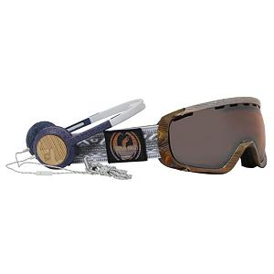 Snowboard Dragon Danny Davis Frends Co-Op Rogue Goggles - Freshen up your look with the Dragon Danny Davis Frends Co-op Rogue Goggle! An optically correct lens fitted inside a flexible polyurethane frame makes up the basics of the Rogue but there is nothing ho-hum about it. The optically correct lens is designed to match the natural curvature of the eye and provides an undistorted view of the slopes. The frame remains flexible in all weather conditions and is armed with adjustable hinges on the straps so you can wear it with or without a helmet comfortably. Lining the frame is a super-cushy triple layer face foam with a micro fleece lining that wicks moisture, giving you an irritation-free wear and a fit that feels like slipping on a glove. Giving you the top-notch in protection is a UV shield, guarding 100% of all harmful UV rays and a Super Anti-Fog coating. Keeping the lens free and clear, the Super Anti-Fog (the same anti-fog chemicals used by NASA) is the strongest anti-fog known to man and is often used on the windshields of spacecrafts and astronauts visors. With fun themes and an impressive design, there is no doubt why the Rogue is a fan favorite for the slopes. In any condition, the Rogue is going to make your mountain experience easily visible, comfortable and long-lasting. Features: Adjustable Hinges, Optically Correct Lens, Skull Candy Headphones Included. Race: No, Category: Adult, OTG: No, Comes w/ Case: No, Has Fan: No, Frame Size: Medium, Spherical Lens: Yes, Polarized: No, Photochromatic: No, Rubberized Strap: No, Helmet Compatible: Yes, Frame Size: Medium, Lens Shape: Spherical, Lens Type: Mirrored, Model Year: 2012, Product ID: 242225 - $79.95