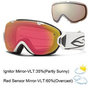 Snowboard Smith I/OS Womens Goggles - The coveted I/O goggles from Smith have been shrunk down and slightly redesigned to form the Smith I/OS Goggles. No reason to let the smaller sleek goggles fool you; they still come with the same high performance technology. The versatile Ignitor Mirror lens is designed to reduce eye fatigue and can be used all season long in most conditions. And as a bonus Smith threw in their Sensor Mirror lens that has a light rose tint making it easy to use for those days with less than perfect lighting. Switching between the two lenses is effortless. Simply flip the two top switches, rotate the outriggers, and pop the lens out. The Smith lenses also feature a Porex Filter and patented Vaporator technology that lets air in and keeps moisture out to eliminate fogging, creating the world's strongest thermal barrier. Ultra-plush 3-layer DriWix performance face foam offers maximum comfort and protection from harsh wind or snow by creating a continuous seal. Smith has compiled technology and style into one extremely versatile goggle with fluid lines and a revolutionary lens system taking performance to the next level. Features: Includes Two Performance Mirror Lenses, Ultra-Wide Silicone Backed Strap, 3-Layer, DriWix Face Foam. Race: No, OTG: No, Special Feature: No, Helmet Compatible: Yes, Frame Size: Small, Lens Shape: Spherical, Lens Type: Mirrored, Model Year: 2014, Product ID: 279251, Model Number: IS7RZWT12, GTIN: 0715757384760, Spare Lens Included: Yes, Rubberized Strap: Yes, Photochromatic: No, Polarized: No, Spherical Lens: Yes, Frame Size: Medium, Comes w/ Case: No, Category: Womens - $139.93