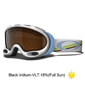 Snowboard Oakley A Frame Gretchen Bleiler Womens Goggles 2013 - The A-Frame goggle brings you legendary performance in an iconic design, so iconic that Gretchen Bleiler felt she needed to design a pro model. The A-Frame features a frame with dual surge port frame vents for improved air circulation. Plus articulating O Matter strap outriggers that optimize the fit of the goggle, whether you wear a helmet or not. The flexible O Matter chassis conforms to your face and stays flexible even in the coldest of conditions. Add to that moisture wicking triple layer polar fleece face foam that will provide all day comfort. The dual vented lenses with F3 anti-fog coating provide you with a crystal clear view of the hill with no fogging. The A frame raises the bar on what you have come to expect from Oakley with exceptional optical performance, fit and comfort. . Race: No, Category: Womens, OTG: No, Comes w/ Case: No, Fog Fan: No, Frame Size: Small, Spherical Lens: Yes, Polarized: No, Photochromatic: No, Rubberized Strap: Yes, Helmet Compatible: Yes, Frame Size: Small, Frame Size: Medium, Lens Shape: Spherical, Lens Coating: n/a, Has Fan: No, Model Year: 2013, Product ID: 279360, Headphones Included: No - $83.95