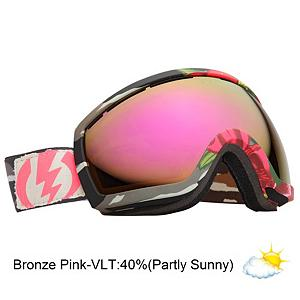 Snowboard Electric EG2.5 B4BC Goggles - B4BC mission is to increase awareness about breast cancer, the importance of early detection and the value of an active lifestyle. The Electric EG2.5 goggles are a smaller, little brother version of the best-selling wide vision goggle the Electric EG2, making it a perfect fit for small to medium sized faces. Crafted with performance and comfort in mind the ergonomic thermo-plastic frame allows for maximum flexibility with optimal fit and includes a thick triple-layer of plush face foam that will wick away moisture. The dual oversized spherical lenses feature 100% protection from harmful rays and have also been infused with a scratch resistant coating and Super Anti-Fog coating to increase longevity. Also exclusive for Electric RIDS goggles is Eyeblack. Eyeblack is a light absorbent paint that is applied to inside of your frame that knocks down unwanted reflecting lights. This resulting in reduced glare which overalls improves visibility and comfort. To add to the amazing features Electric gives you Eyeblack which is a light absorbent paint that is applied to inside of your frame that knocks down unwanted reflecting lights. This resulting in reduced glare which overalls improves visibility and comfort. The EG2.5 is only one of two goggles that offer the Anti-Reflective lens technology which can absorb light and reduce blinding glare for improved vision over all. View the slopes with uncompromising clarity and definition in the EG2.5 goggles from Electric. Proceeds from the sale of this goggle go to Boarding For Breast Cancer, B4BC a non profit, youth focused education, awareness, and fundraising organization. Learn more at B4BC.org . Race: No, Category: Womens, OTG: No, Comes w/ Case: Yes, Special Feature: No, Frame Size: Medium, Spherical Lens: Yes, Polarized: No, Photochromatic: No, Rubberized Strap: No, Helmet Compatible: Yes, Frame Size: Medium, Lens Shape: Spherical, Lens Type: Mirrored, Model Year: 2013, Product ID: 282983 - $89.88