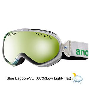 Snowboard Anon Solace Womens Goggles - Premium performance tuned to your style is what the Anon Solace Goggle is all about. Enjoy features like a premium Panoramic Profile spherical lens that will enhance optical clarity and provide 100% UV protection. The frame is constructed with the highest quality thermoplastic polyurethane and offers a natural resistance to abrasion but maintains consistent flexibility in changing temperatures. Channeled Top Venting optimizes airflow and ventilation to prevent fogging in any condition and the slim profile frame is best suited for smaller riders and women. The Solace also includes a triple-layer, hypoallergenic face foam that utilizes a moisture wicking fleece to provide a perfect goggle-to-face seal, keeping out the elements while providing comfort for all day riding. And with the patented auto-adjust hinge and strap design feature proper swing tolerances guarantee the best helmet compatibility of any goggle on the market. No pity party needed, strap on the comfort of the Solace and claim what's yours. . Race: No, Category: Womens, OTG: No, Comes w/ Case: No, Special Feature: No, Frame Size: Medium, Spherical Lens: Yes, Polarized: No, Photochromatic: No, Rubberized Strap: No, Helmet Compatible: Yes, Frame Size: Small, Lens Shape: Spherical, Lens Type: Non-Mirrored, Model Year: 2013, Product ID: 283559 - $79.91