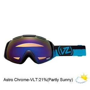 Snowboard Vonzipper El Kabong Frosteez Goggles - New this year the El Kabong Frosteez from VonZipper takes center stage. With the mythical and revolutionary frameless design and Presto Change-O lens lens system you get a quick change lens system and provides you with maximum peripheral vision. With the dual layered spherical anti-fog lens your vision will be crystal clear. Add in the triple density face foam with fleece lining you with have a moisture wicking comfortable seal on your face. The thermo-Poly Urethane frame is almost invincible and flexible to fit your face. These are helmet compatible too so rock them with your favorite bucket. The Frosteez graphics will turn your sundae into a fundae. Say abracadabra and pull a rabbit out of your hat with this magical on hill performer. Features: Microfiber Goggle Bag Included. Race: No, Category: Adult, OTG: No, Comes w/ Case: No, Special Feature: No, Frame Size: Large, Spherical Lens: Yes, Polarized: No, Photochromatic: No, Rubberized Strap: Yes, Helmet Compatible: Yes, Frame Size: Large, Lens Shape: Spherical, Lens Type: Mirrored, Model Year: 2013, Product ID: 283632 - $89.88