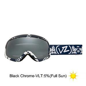 Snowboard Vonzipper Skylab Goggles - Commence countdown, flip your ignition and blast off with the Skylab from VonZipper. The Skylab is equipped with a thermo-poly urethane injection molded frame that remains flexible even in the coldest conditions. It also features a dual spherical polycarbonate lens with Barricade anti-fog and hard coating and for optically correct, distortion free vision. The polar fleece lined, triple density face foam wicks away moisture and provides you with a comfortable seal for all day use. The Skylab is helmet compatible so you can add these for a nice fit with your bucket. Whether you are a space bay or a rocket queen, the visual acuity the Skylab offers will touch you down in style. . Race: No, Category: Adult, OTG: No, Special Feature: No, Spherical Lens: Yes, Polarized: No, Photochromatic: No, Rubberized Strap: Yes, Helmet Compatible: Yes, Frame Size: Fits Most Faces, Lens Shape: Spherical, Lens Type: Mirrored, Model Year: 2013, Product ID: 283646, Frame Size: Medium, Comes w/ Case: No - $59.88