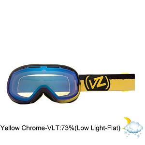 Snowboard Vonzipper Chakra Frosteez Womens Goggles - The Chakra Frosteez is the maximum in minimalism. This Goggle accommodates a small to medium face size and is a ritual in oneness with the flow of the flurry universe. The Chakra features a thermo-poly urethane injection molded frame that remains flexible even in the coldest conditions. The dual cylindrical polycarbonate lens provides you with anti-fog and a good weather seal for your face. The polar fleece lined. Triple density face foam wicks away moisture and provides you with a comfortable seal for all day use. The Frosteez graphic will turn your sundae into a fundae. The Chakra will assist you in finding your spiritual center of snow unity, sending you down the blizzardy path of meaningful existence. Features: Microfiber Goggle Bag Included. Race: No, Category: Womens, OTG: No, Comes w/ Case: No, Special Feature: No, Frame Size: Medium, Spherical Lens: No, Polarized: No, Photochromatic: No, Rubberized Strap: Yes, Helmet Compatible: Yes, Frame Size: Small, Lens Shape: Spherical, Lens Type: Mirrored, Model Year: 2013, Product ID: 283656 - $59.88