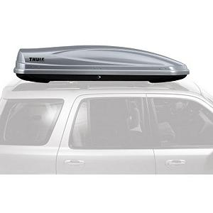Snowboard Thule Atlantis 1200 Roof Top Cargo Box - When you are traveling, travel with the Atlantis 1200 Roof Top Box. This Roof Top Box by Thule is equipped with all the makings of a sturdy, durable item to hold several pairs of skis. The Atlantis 1200 mounts to most roof racks capable of holding up to 110 pounds of equipment. This Thule Roof Top Box is made to be opened from either side for easy accessibility to your items inside. There is also a safety feature that only allows the keys to be removed when the box is completely locked. The quick grip mounting system makes for an easy tool free installation. Keep the inside of your vehicle clean and dry with the Thule Atlantis 1200. Features: Available in metallic silver or glossy black. Product ID: 179488, Shipping Restriction: This item is not available for shipment outside of the United States., Shipping Note 1: Commercial Addresses = $149. Residential Addresses = $149., Shipping Note 3: This item is available for shipment by freight to the lower 48 United States. It cannot be shipped to APO, FPO, PO BOX, Hawaii, or Alaska., Product Note: Coupons or other discounts cannot be applied to this item. This item may not qualify for Price Matching. - $512.95