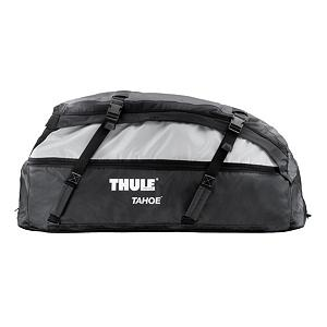 Snowboard Thule Tahoe Soft Cargo Bag - If you are one of those people who desire to bring it all when they head out on the road, load up the Thule Tahoe Cargo Carrier. With this behemoth roof bag, you have enough room for everything you need, and then some. The Tahoe features reversible expansion zippers, so you can expand the bag from 15 cubic feet to 17 when your buddy decides to pack a little heavy. Tie down straps make it easy to attach the bag to nearly any factory or after market rack system, and taped seams and durable water resistant fabric protect your gear from an unexpected light shower. When you return from your trip, pack the Tahoe down into its storage bag until the urge to hit the road strikes again. Features: Internal foam construction helps maintain bags shape for easier packing and cleaner look, Strategically located handles for easy bag handling, Conveniently collapses down to store in its own storage bag.. Model Year: 2013, Product ID: 119559, Shipping Restriction: This item is not available for shipment outside of the United States. - $188.95