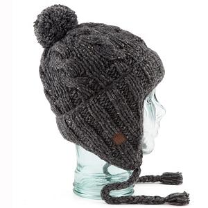 Snowboard Coal Isles Flap Hat - The Coal Isles Flap beanie is a traditional chunky hand-knit Nordic earflap beanie with a cabled body and thick rib cuff. Old school flecks of color accent the yarn, trimmed with a suede label. . Warranty: One Year, Battery Heated: No, Material: Wool, Lined: No, Type: Earflap, Model Year: 2013, Product ID: 288386, Model Number: 122502 CHAR, GTIN: 0842852109346 - $29.91