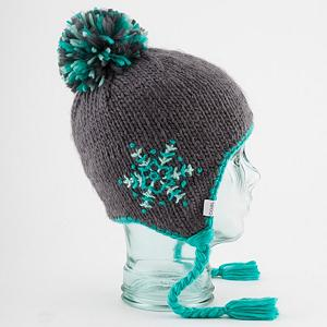 Snowboard Coal Greta Womens Hat - The Greta beanie is a lovingly hand-embroidered snowflakes adorn this hand-knit earflap beanie, with soft fleece banding for added warmth. . Warranty: One Year, Battery Heated: No, Material: Synthetic, Lined: Yes, Type: Earflap, Model Year: 2013, Product ID: 288603 - $29.91