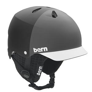 Snowboard Bern Watts Hatstyle Visor Knit Hard Hat - Bern crafted the Watts hard hat as the first vented lid which was brought about by popular demand. It features the patented multiple impact breathable Brock Foam that can keep you cool and dry as it allows for air to flow in all directions in addition to the passive air vents on the top. However it also includes an easily removable knit hat insert that will keep your head warm and toasty during the cold days. Plus with the Twin Clip you have two possible goggle clip locations in the back as well as the sink fit for a solid surround low profile custom feel. As used by some of the top athletes in the world you'll soon discover why Bern has some of the most comfortable and versatile sporting equipment on the market today. Features: Rugged ABS Shell Weights a Mere 17.7 oz.. Certifications: None, Warranty: One Year, Gender: Mens, Special Features: Burly ABS Shell, Special Features: Brock Foam, Race: No, Category: Half Shell, Audio: Audio Compatible, Brim/Visor: Yes, Ventilation: Adjustable, Custom Fit Adjustment: No, Year Round Capable: Yes, Shell Construction: In Mold/Hard Shell, Model Year: 2011, Product ID: 200654 - $49.95