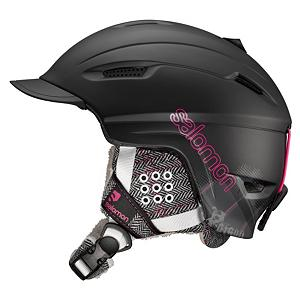 Snowboard Salomon Poison Womens Helmet - The Salomon Poison Ski Helmet is a great choice for keeping your dome protected. This helmet features a removable and washable liner that allows you to keep it smelling fresh after each time you use it and the liner is even ponytail compliant which will keep it comfortable on your head no matter how long your hair is. A removable visor is another added feature you are sure to enjoy and the removable faux fur ear pads are super comfortable and can be removed so you can wear the Salomon Poison all year long. . Model Year: 2013, Product ID: 277103, Shell Construction: In Mold, Year Round Capable: Yes, Custom Fit Adjustment: No, Ventilation: Adjustable, Brim/Visor: Yes, Audio: Not Compatible, Category: Half Shell, Race: No, Special Features: Removable Visor, Gender: Womens, Warranty: Two Years, Certifications: CE EN 1077 and ASTM F2040 - $59.91