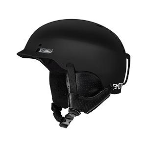 Snowboard Smith Gage Helmet - When different is what you want, the Gage delivers with style. This slopestyle worthy helmet brings the superior ventilation and technology you've come to expect from Smith, in an unexpectedly smooth package. AirEvac uses a system of shell vents to actively pull warm, moist air out of the user's goggles and exhaust it out of the helmet to prevent fogging. Removable bombshell earpads gives you the option to use the Smith Gage for spring laps. This helmet is great for all-season use. . Certifications: ASTM F 2040, CE EN 1077:2007 CLASS B, Warranty: Lifetime, Gender: Mens, Race: No, Category: Half Shell, Audio: Audio Compatible, Brim/Visor: Yes, Ventilation: Adjustable, Adjustability: None, Year Round Capable: Yes, Shell Construction: Hard Shell, Model Year: 2014, Product ID: 280338, Model Number: H13-GAMBSM, GTIN: 0715757397975 - $64.92